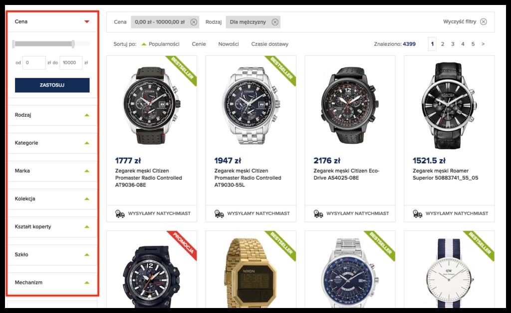 de59c1c61ee6cf Załóżmy, że szukamy zegarka męskiego, który spełni oczekiwania konkretnego  klienta.
